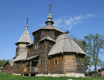 Transfiguration Church from village Kozliatyevo. (1756), Museum of Wooden Architecture, Suzdal. Golden Ring, Russia Stock Images