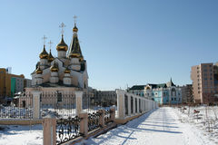 Transfiguration Church in Ykutsk Royalty Free Stock Images