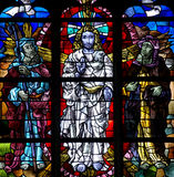 Transfiguration of Jesus. Stained glass window of transfiguration of Jesus Stock Image