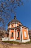Transfiguration von Jesus-Kirche (1777). Kraskovo, Russland Lizenzfreie Stockfotos
