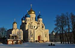 Transfigurationdomkyrkan och kyrkan av St Arkivfoto