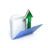 Transfira arquivos pela rede o ícone Fotografia de Stock