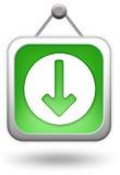 Transfira o ícone verde do computador Imagens de Stock Royalty Free