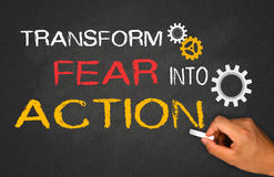 Transform fear into action Royalty Free Stock Photos