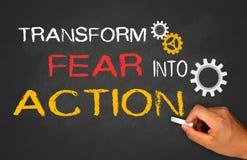 Transform fear into action. Concept royalty free stock photos