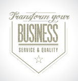 Transform your business seal message. Royalty Free Stock Photos