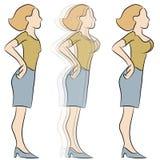Transformação da ampliação do peito ilustração do vetor