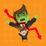 Transformação muito irritada do homem de negócios Fotografia de Stock