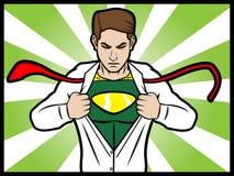 Transformación del super héroe Imagen de archivo libre de regalías