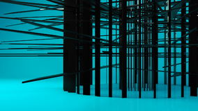 Transformación geométrica negra brillante de la partícula del objeto almacen de video