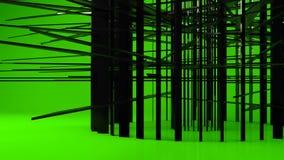 Transformación geométrica negra brillante de la partícula del objeto metrajes