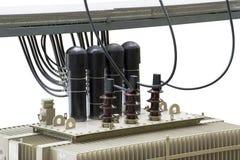 Transformador com isolação elétrica e bonde de alta tensão Fotos de Stock
