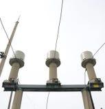 Transformador corriente subestación del alto voltaje de 110 kilovoltios Foto de archivo libre de regalías