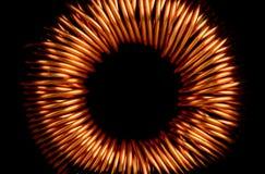 Transformador de cobre eléctrico Imagen de archivo libre de regalías