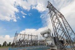 Transformador de poder na estação secundária Fotos de Stock