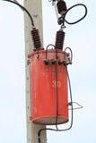 Transformador e linhas eléctricas foto de stock royalty free