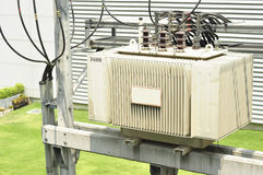 Transformador eléctrico Fotos de archivo libres de regalías
