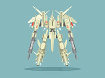 Transformador militar del robot stock de ilustración