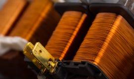 Transformadores de cobre eléctricos Imagen de archivo libre de regalías