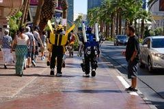 Transformadores de Las Vegas Imágenes de archivo libres de regalías