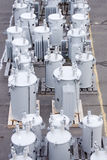 Transformadores de petróleo Imágenes de archivo libres de regalías