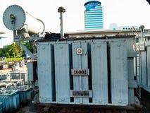 Transformadores de poder para a indústria em grande escala fotografia de stock