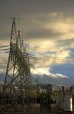 Transformadores de potencia Foto de archivo