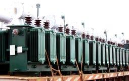Transformadores elétricos imagem de stock