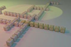 Transformata, biznesowy s?owa kluczowego crossword Dla strony internetowej, graficznego projekta, tekstury lub t?a, zdjęcia stock