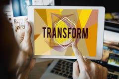 Transformata Tworzy projekta stylu słowa pojęcie zdjęcie royalty free