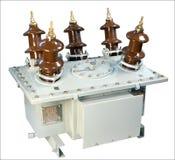 Transformateur de courant rempli d'huile Photographie stock libre de droits
