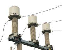 Transformateur de courant sous-station de haute tension de 110 kilovolts Photographie stock