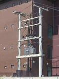 Transformateur de distribution de l'électricité Photographie stock