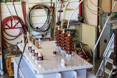Transformateur immergé dans l'huile sous le court-circuit résistant à l'essai image stock