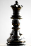 Transformation. Chess. Focus on pawn Royalty Free Stock Photo