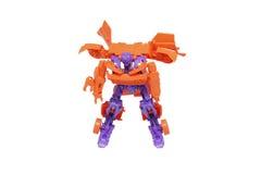 Transformation de robot de jouet Photos stock