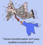 Transformation. I know transformation is not easy. I pulled a muscle once stock illustration