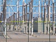 Transformation power station diagonal Royalty Free Stock Photos