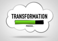 Transformation. Process - cloud illustration concept stock illustration