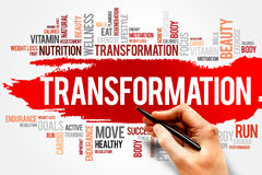 Transformation. Word cloud, fitness, sport, health concept Stock Photography