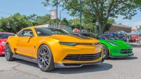 Transformator Camaro en Korvet, Woodward-Droomcruise Royalty-vrije Stock Foto's