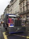 Transformatorenvrachtwagen Stock Afbeelding