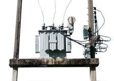 Transformatorowa elektryczna stacja Fotografia Stock