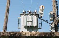 Transformatorowa elektryczna stacja Zdjęcie Royalty Free