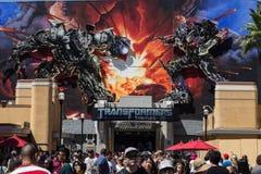 Transformatory 3 d przejażdżki universal studio, Hollywood zdjęcie stock