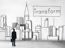 Transformaty transformaci zmiany ewoluci pojęcie Fotografia Royalty Free