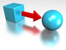 Transforme ilustración del vector