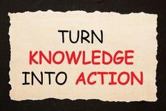 Transforme o conhecimento na a??o imagens de stock