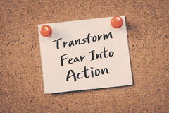 Transforme o medo na ação Fotos de Stock Royalty Free