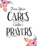 Transforme seus cuidados em orações Fotos de Stock Royalty Free